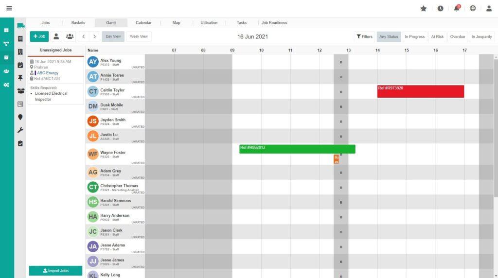 Timeline View Workforce Management Software