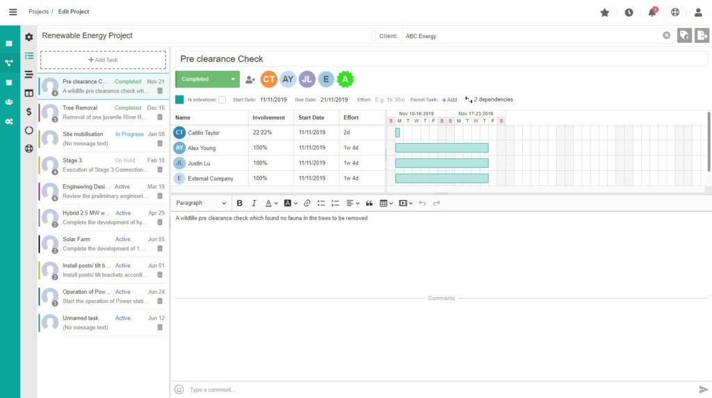 Dusk Mobile Project Management - Resource Task Splitting