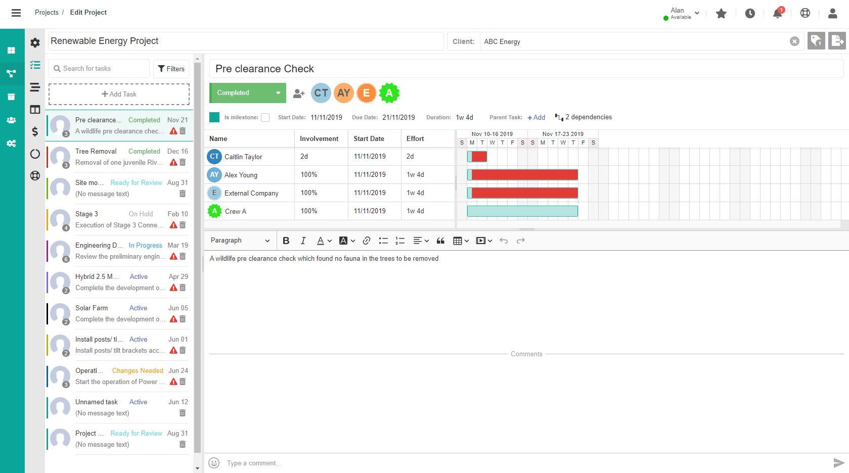 Dusk IOP - Project Management Platform
